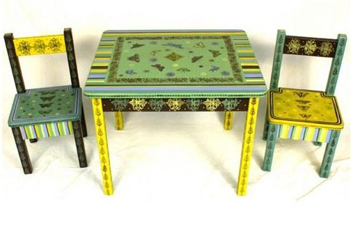 Whimsical Hand Painted Childrens Tables And Chairs_1237459445205 ...