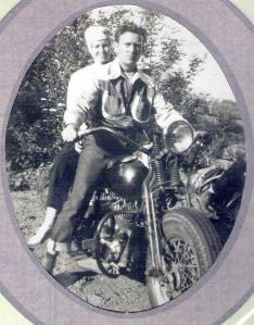 mom dad during their harley years